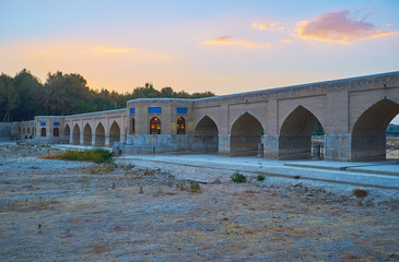 Evening on the river, Isfahan, Iran