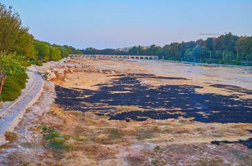 Dried up river of Isfahan, Iran