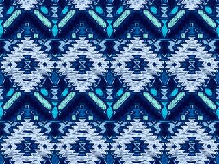 Boho tie dye background sketch mexican blue