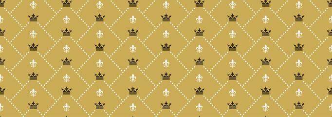 Royal Background Seamless Pattern-Vector Illustration