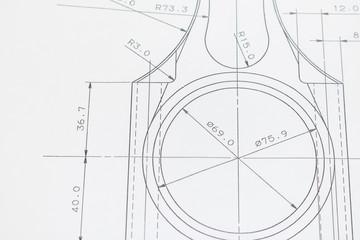 メカの図面 設計イメージ