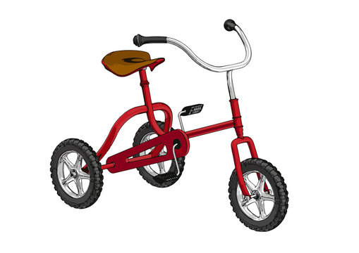 red child bicycle vector