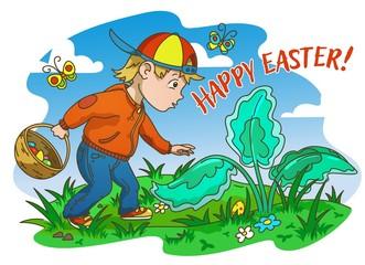 Easter Egg Hunter Boy