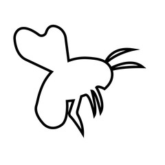 bumble bee outline on white bbackground