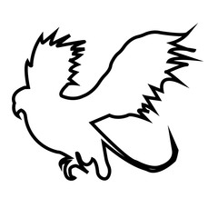 griffin outline on white background