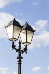 Street light metallic black in vintage style