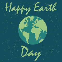 Happy Earth day background for web design