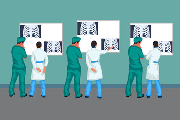 doctors looking at xray