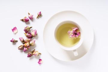 herbal rose tea.