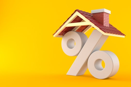 Percent symbol with house roof