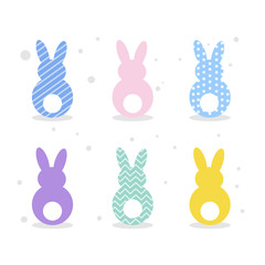 Easter rabbits set.
