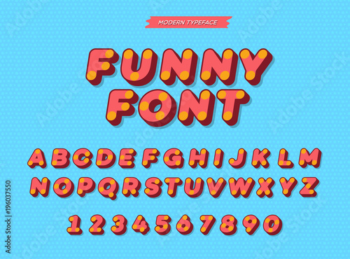 Vector slanted 3d sans serif alphabet  Colorful font modern