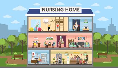 Nursing home interior.