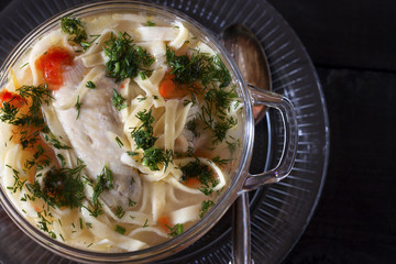 soup with homemade noodles