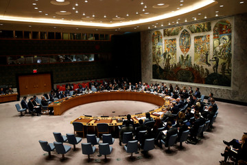The United Nations Security Council meets on Syria at the U.N. headquarters in New York