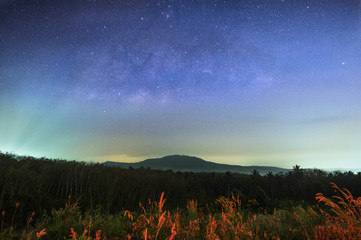 Milky way above the mountain