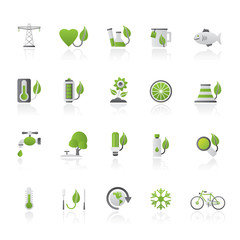 Ecology, Environment and nature icons 4 - vector icon set