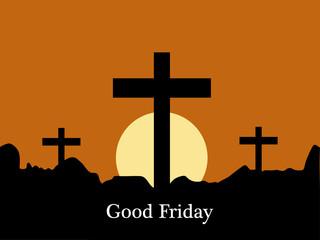 Illustration of Cross for Good Friday background
