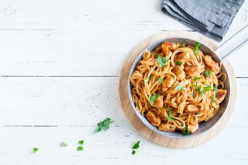 Chicken spaghetti pasta