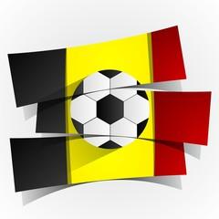 Belgium Football Team Banners vector illustration
