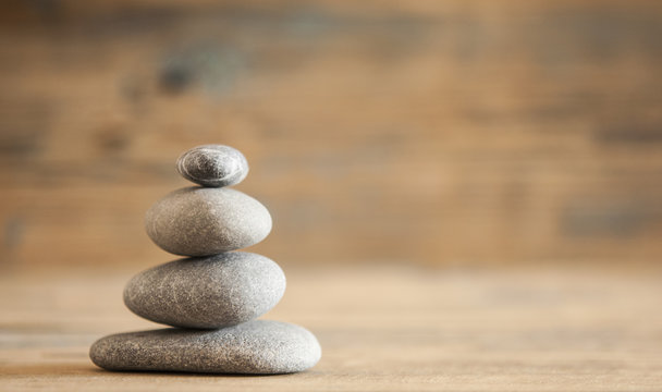 A stack of four zen rocks