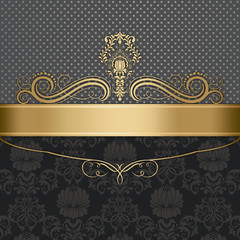 Luxury background with elegant border and ornament.