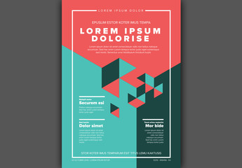 Isometric Shapes Poster Layout