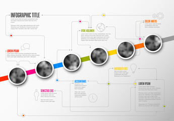 Upward Angle Template Timeline Layout