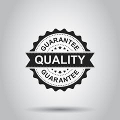 Guarantee grunge rubber stamp. Vector illustration on white background. Business concept quality stamp pictogram.