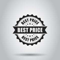 Best price sale grunge rubber stamp. Vector illustration on white background. Business concept best price stamp pictogram.