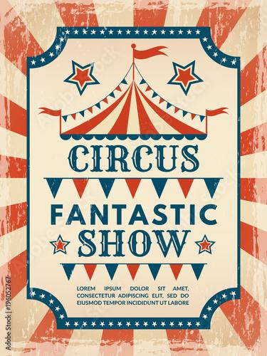 retro poster invitation for circus magic show fotolia com の