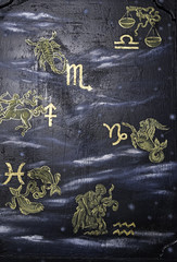 Horoscope symbols texture