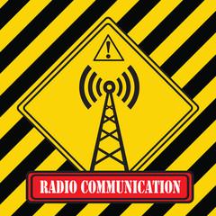 Industrial symbol - radio communication