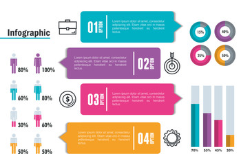 business infographic template icons vector illustration design