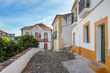 Streets of the old tourist town of Mertola. Portugal.