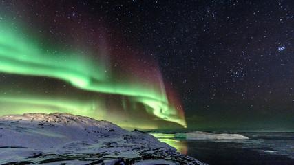 Deurstickers Noorderlicht Greenland