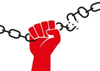 enchainé - liberté - enchainer - libérer - libération - chaîne - symbole - prisonnier - indépendance