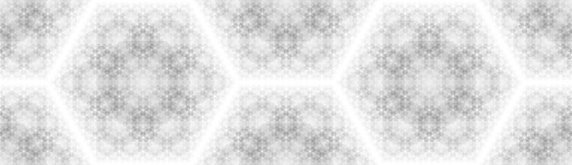 Abstract background with a pattern of hexagons. Ordered structure.