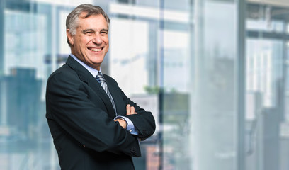 Closeup portrait of a confident mature business man