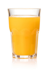Photo sur Plexiglas Jus, Sirop fresh juice in glass isolated on white background