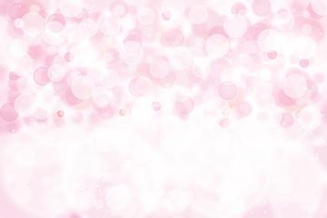 Pink bokeh background.