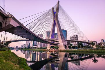 Sao Paulo Skyline Sunset - Brazil Fototapete