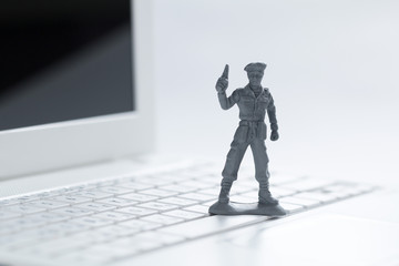 cyber wars, soldiers on the keyboard