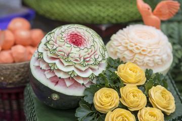 THAILAND BANGKOK THAI FOOD CARVING