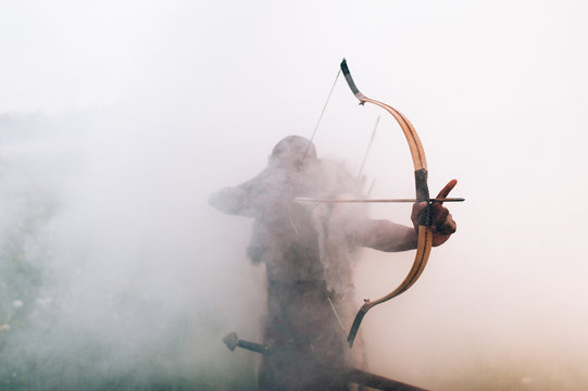 archer in the fog