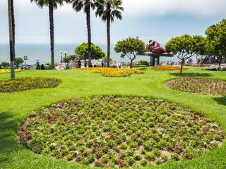 Garden in Parque del Amor park