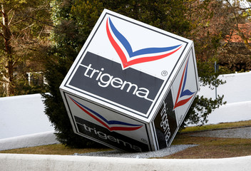 "Logo of Textile company ""TRIGEMA"" is pictured at headquarter in Burladingen"