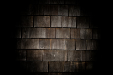 Cedar shingle siding backdrop