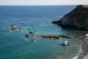 Lemos beach, the southernmost point of Greek peninsula Sithonia