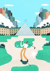 Golf au Louvre
